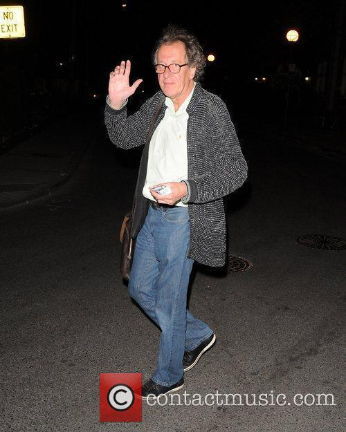 Geoffery Rush out and about ahead of the...