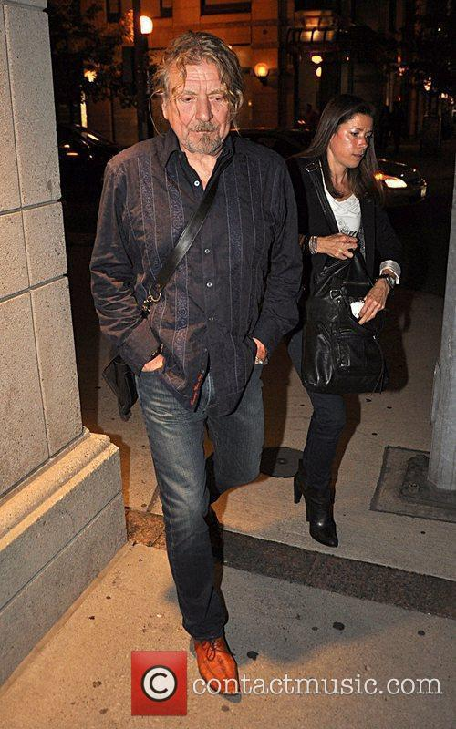 Robert Plant leaving Morton's Steak House heading back...