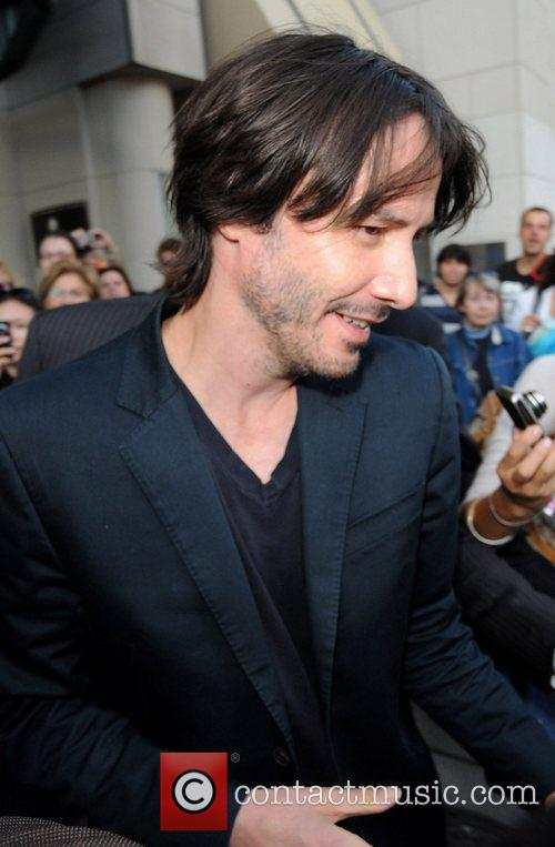 Keanu Reeves leaving the InterContinental  during the...