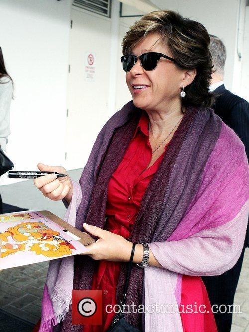 Yeardley Smith greets and signs autographs for fans...