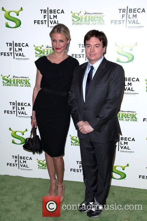 Cameron Diaz and Mike Myers Premiere of 'Shrek...
