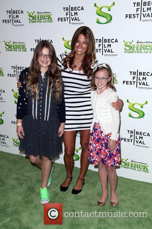 Kelly Bensimon and family Premiere of 'Shrek Forever...