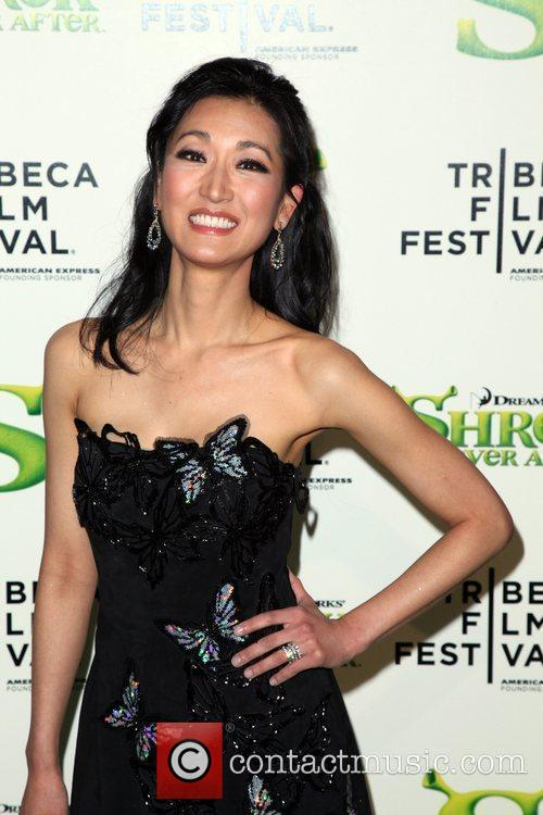 Kelly Choi Premiere of 'Shrek Forever After' during...
