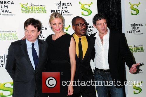 Mike Myers, Cameron Diaz, Eddie Murphy and Antonio...