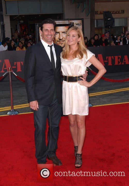 Jon Hamm and wife The A-Team Los Angeles...