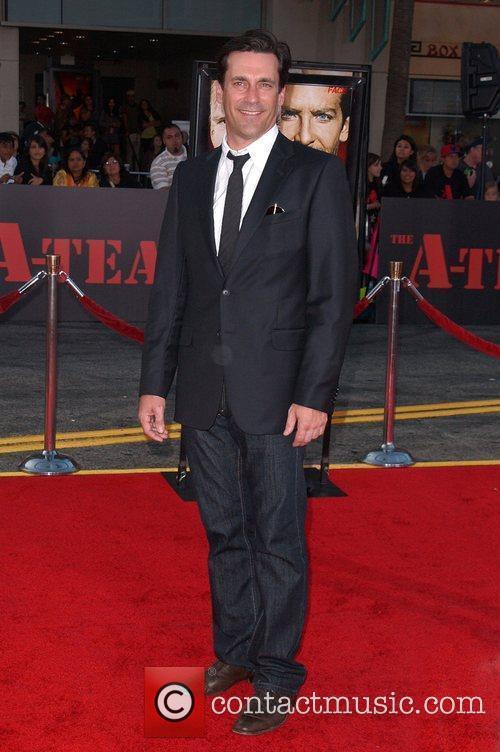 Jon Hamm The A-Team Los Angeles premiere at...