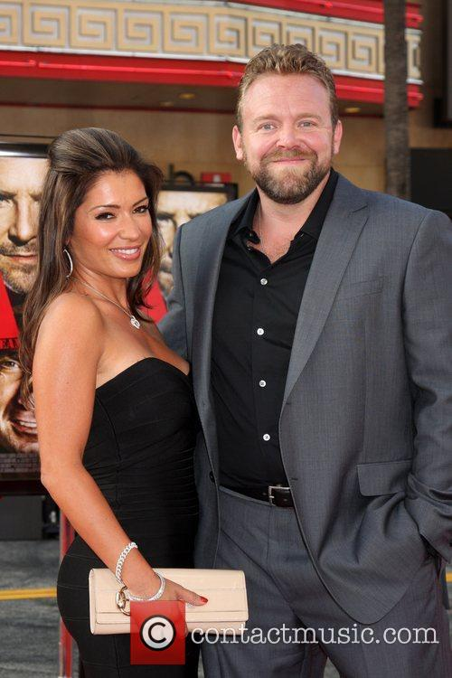 Joe Carnahan with his fiance The A-Team Los...