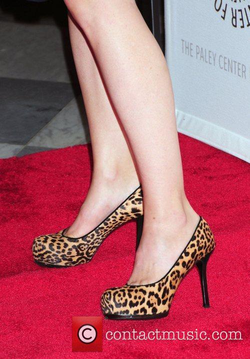 Laura Linney leopard skin shoes,  'The Big...
