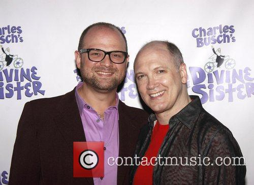 Carl Andress and Charles Busch The opening night...