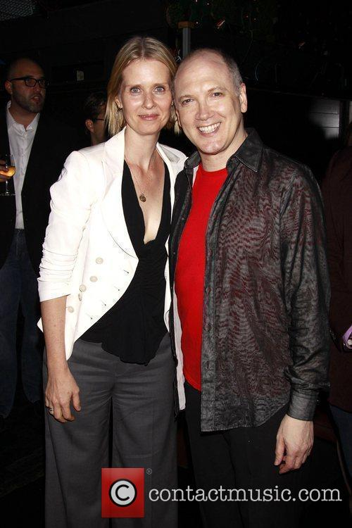 Cynthia Nixon and Charles Busch The opening night...