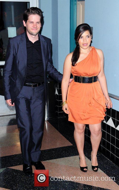 Director Ryan Piers Williams and America Ferrera Miami...