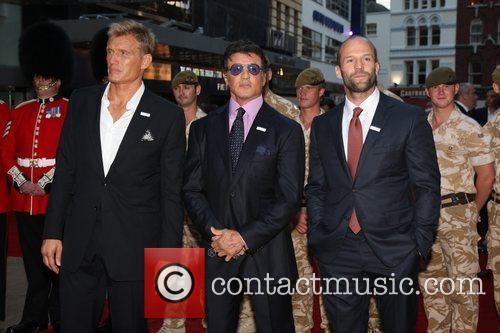 Dolph Lundgren, Sylvester Stallone and Jason Statham 'The...