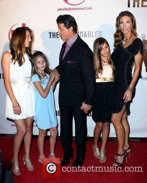 Sylvester Stallone, Jennifer Flavin With Their Daughters Scarlet, Sistine and Sophia 4