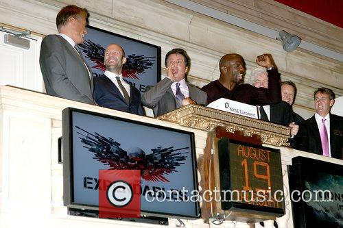 Dolph Lundgren, Jason Statham, Sylvester Stallone and Terry Crews 3