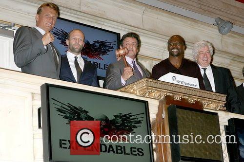 Dolph Lundgren, Jason Statham, Sylvester Stallone and Terry Crews 4
