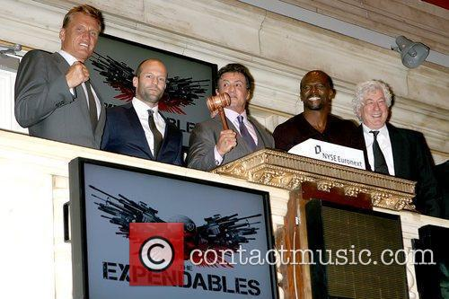 Dolph Lundgren, Jason Statham, Sylvester Stallone and Terry Crews 5