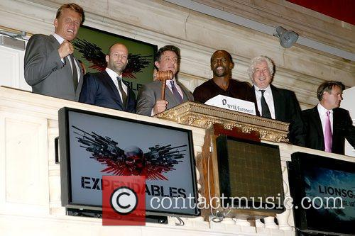 Dolph Lundgren, Jason Statham, Sylvester Stallone and Terry Crews 7