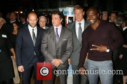 Jason Statham, Dolph Lundgren, Sylvester Stallone and Terry Crews 5