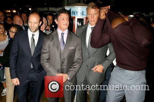 Jason Statham, Dolph Lundgren, Sylvester Stallone and Terry Crews 8