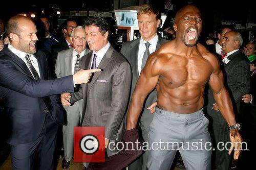 Jason Statham, Dolph Lundgren, Sylvester Stallone and Terry Crews 2