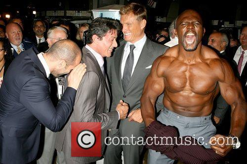 Jason Statham, Dolph Lundgren, Sylvester Stallone and Terry Crews 11