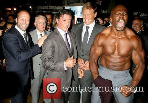 Jason Statham, Dolph Lundgren, Sylvester Stallone and Terry Crews 4