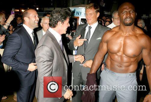Jason Statham, Dolph Lundgren, Sylvester Stallone and Terry Crews 9