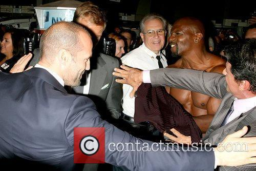 Jason Statham, Dolph Lundgren, Sylvester Stallone and Terry Crews 5
