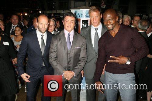 Jason Statham, Dolph Lundgren, Sylvester Stallone and Terry Crews 6