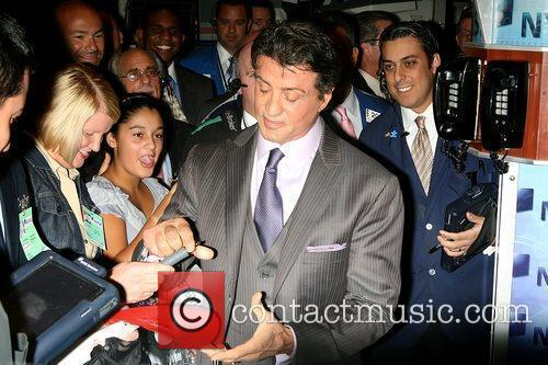 Sylvester Stallone signing autographs The cast of 'The...