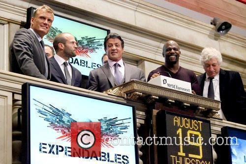 Dolph Lundgren, Jason Statham, Sylvester Stallone and Terry Crews 10