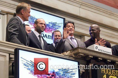 Dolph Lundgren, Jason Statham, Sylvester Stallone and Terry Crews 1