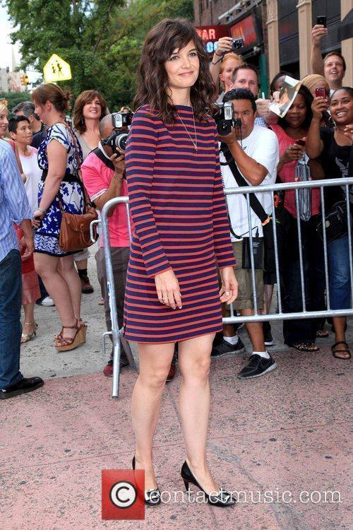 Katie Holmes attends the premiere of 'The Extra...