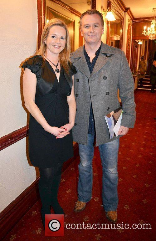 Daithi O'Se, Claire Byrne,  at the opening...