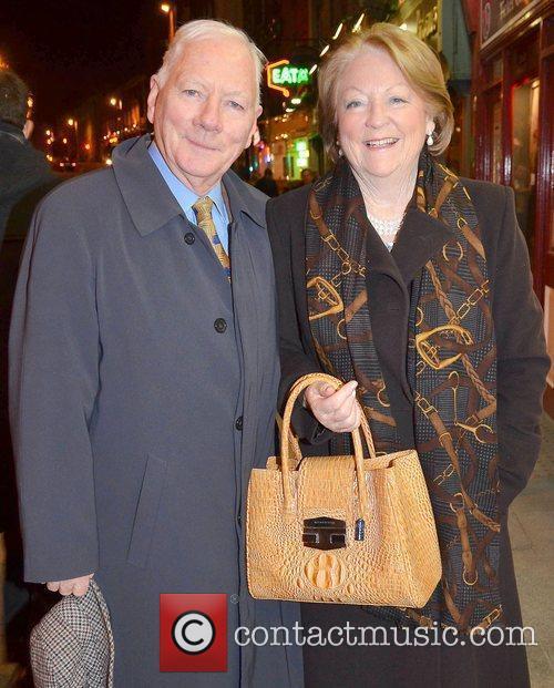 Gay Byrne, Kathleen Watkins,  at the opening...