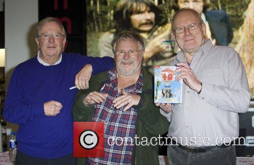 The Goodies (L-R) Tim Brooke-Taylor, Bill Oddie and...