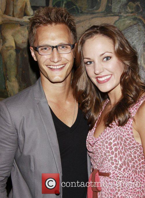 Laura Osnes and her husband Nathan Johnson Opening...
