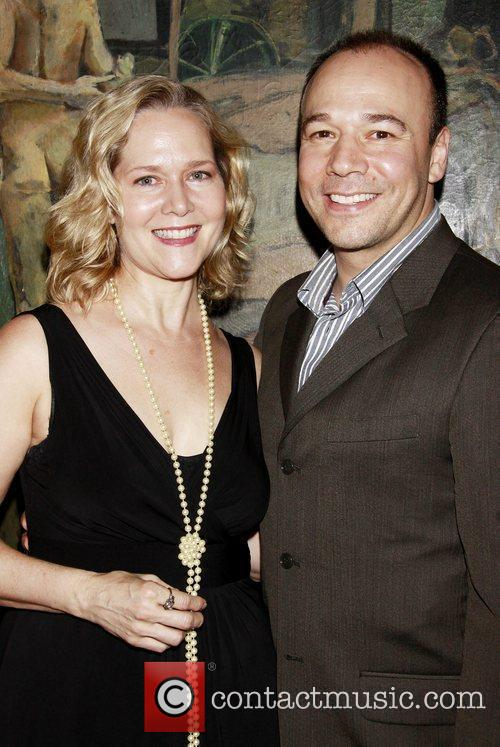 Rebecca Luker and Danny Burstein Opening Night after...