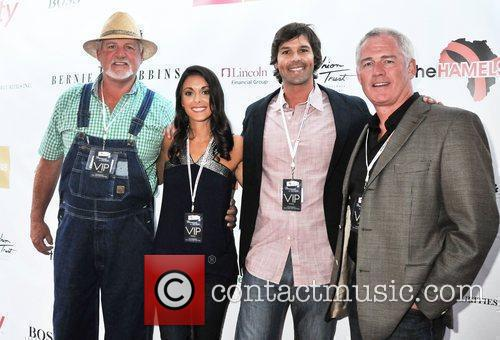 Guests Philadelphia Phillies Pitcher Cole Hamels and his...