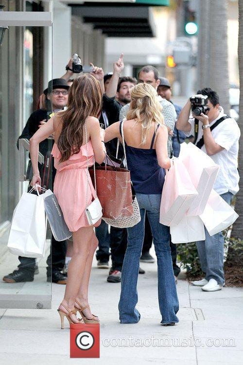 Audrina Patridge and Kristin Cavallari filming a scene...