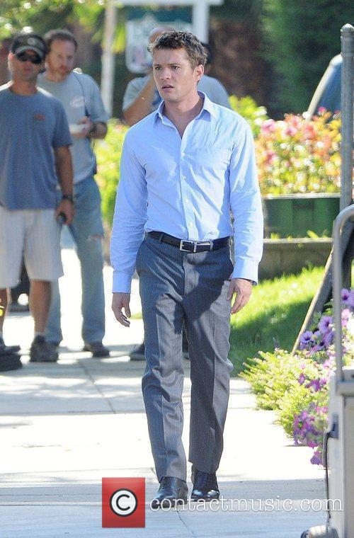 Ryan Phillippe on the set of 'The Lincoln...