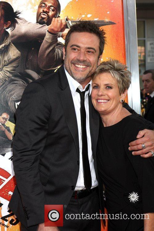 Jeffrey Dean Morgan and his mother Sandy Thomas...
