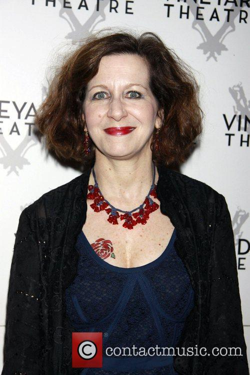 Betsy Aidem departing the opening of the Off-Broadway...