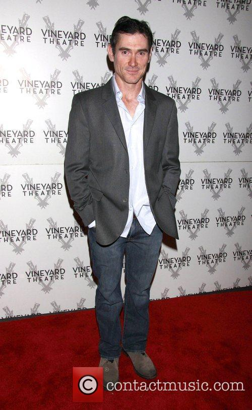 Billy Crudup departing the opening of the Off-Broadway...