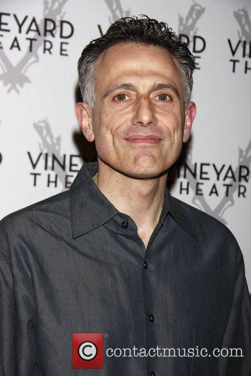 David Greenspan departing the opening of the Off-Broadway...