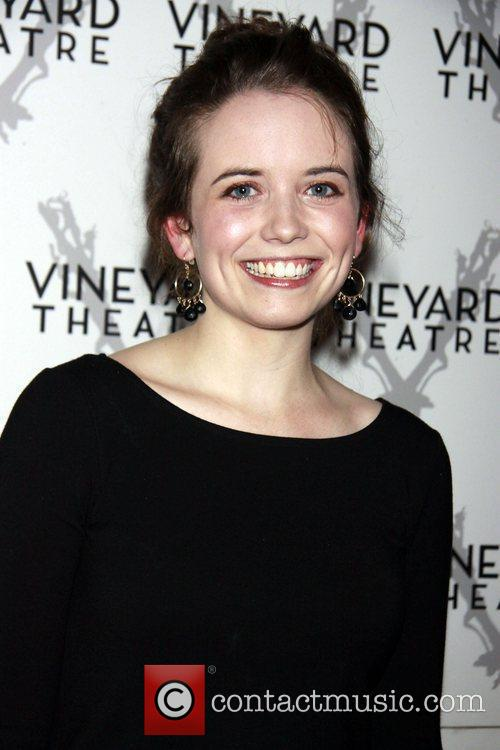 Phoebe Strole departing the opening of the Off-Broadway...