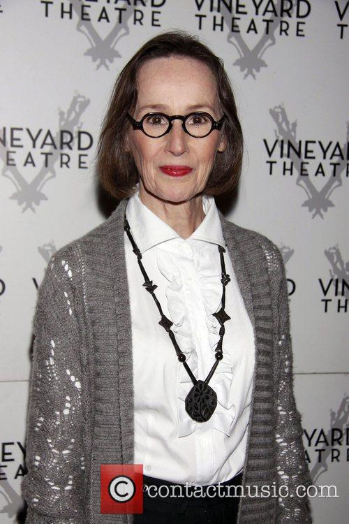 Susan Blommaert departing the opening of the Off-Broadway...