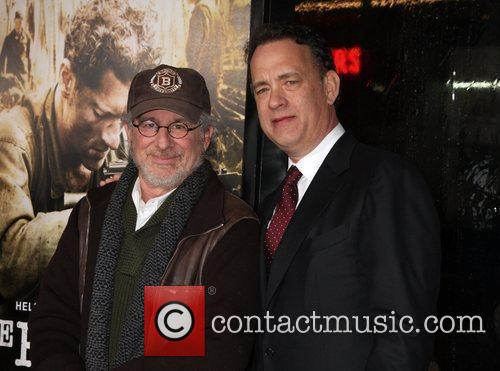 Steven Spielberg, Tom Hanks  Los Angeles Premiere...