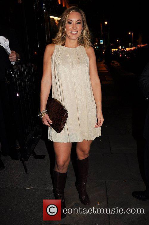 Kathryn Thomas,   arrive at the launch...