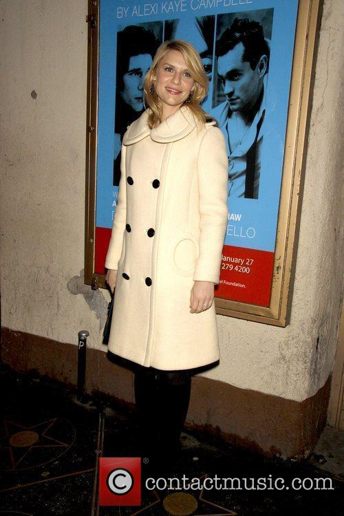 Claire Danes Opening night of the Off-Broadway play...